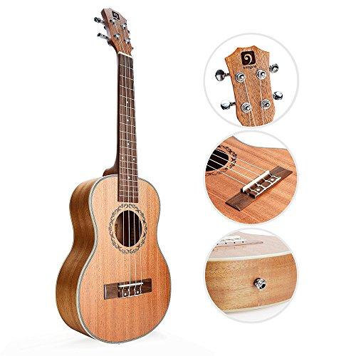 Vangoa - UK-21M Soprano 21 inches Acoustic Ukulele in Mahogany with Nylon Strap, Pick, Pick Container, Carry Bag, Tuner, Kazoo, Backup Strings, Finger Shaker - Image 2