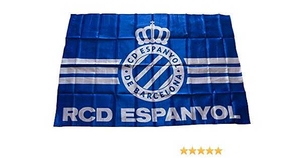 RCD Espanyol Badesp Bandera Azul//Blanco 70x110cm