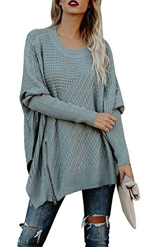 FISACE Full Sleeve Knitted Lightweight Speckled Fringe Tasseled Slash Cardigan/Batwing Sleeve Patchwork Pullover (X-Large, (Patchwork Tassel)
