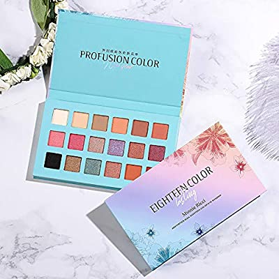 Brand Makeup Long-lasting Eye Shadow Easy To Wear Eyeshadow Natural Matte Shimmer Natural Makeup Palette 18 Colors Beauty Essentials Beauty & Health
