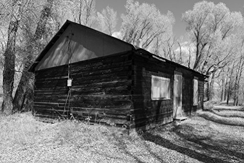 24 x 36 B&W Giclee Print A Cabin Rented Fishermen Women at The Sheriff Ranch at The headwaters The Colorado River Near Hot Sulphur Springs in Grand County, Colorado 2015 Highsmith 76a