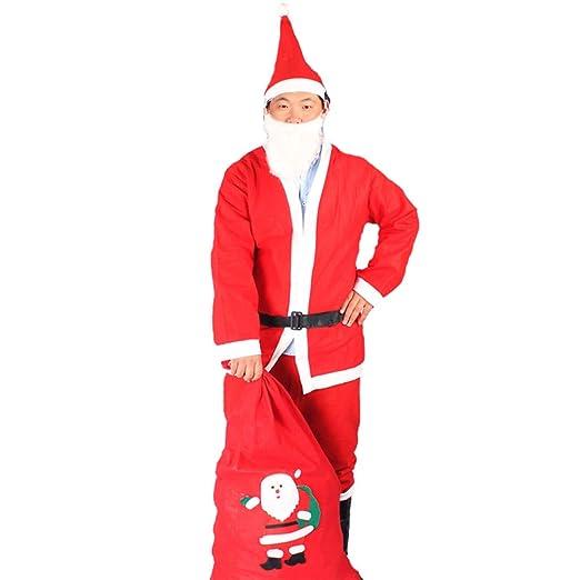 Traje de Traje de Santa para Hombre, Chaqueta, pantalón ...