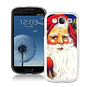 S3 Case,Red Christmas Hat Santa Claus White Silicone Samsung Galaxy S3 Case,S3 I9300 Cover Case