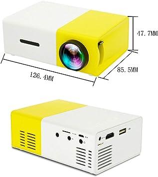 HBOY Proyector para el hogar HD proyector Micro microprocesador ...