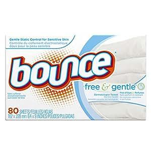 Bounce Fabric Softener Sheets, Free, 80 sheets
