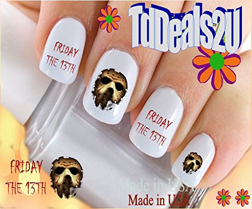 Holiday Halloween - Friday the 13th Mask - WaterSlide Nail Art Decals - Highest Quality! Made in USA