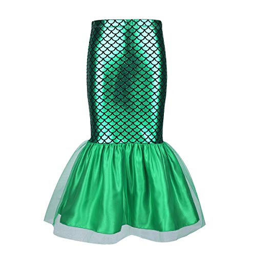 CHICTRY Toddler Girls Little Mermaid Costume Halloween Sequins Tutu Skirt Tails Dress up Scales Green -