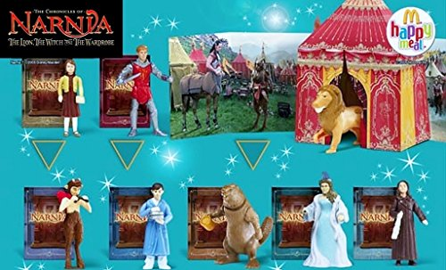 McDonalds The Chronicles of Narnia Complete Happy Meal set - 2005 (Name Of Lion In Chronicles Of Narnia)