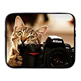 Bxse Funny Kittens Cats Bite Camera Laptop Bag Liner Bag Laptop Computer Sleeve Portable Water Resistant Notebook Liner Package Laptop Case Tablet Case Computer Accessories For Macbook Air Pro