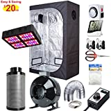 Hydro Plus Grow Tent Complete Kit LED 600W Grow Light + 6″ Filter Fan Kit + 48″x24″x72″ Grow Tent Room + Hydroponic Indoor Plants Growing System Accessories (48″x24″x72″ Kit) Review