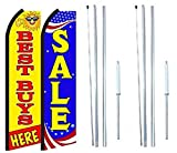 Best Buy Sale King Swooper Flag Sign With Complete Hybrid Pole set - Pack of 2