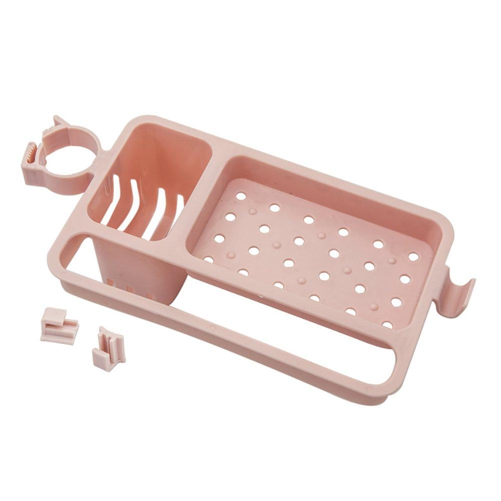 funie Adjustable Draining Rack Sponge Soap Container Holder Kitchen Organizer Strainer Dish Drainer