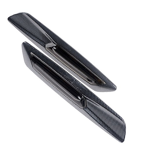 F10 Style Amber LED Carbon Fiber SMOKE Side Marker Light Fit BMW E88 E81 E90 E92