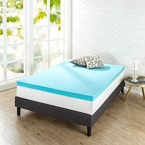 (Zinus 3 Inch Gel Memory Foam Mattress Topper,)