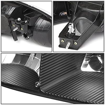 DNA Motoring HL-OH-DAN994P-BK-AM 4Pcs of Headlights+Bumper Lamp[02-06 GMC Sierra/Yukon],Black amber: Automotive