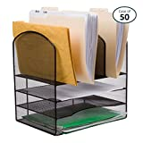 Pack of 50 25 Home Décor Wire Mesh Office Desk File Organizer, Black,