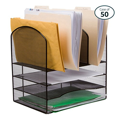 Pack of 50 25 Home Décor Wire Mesh Office Desk File Organizer, Black, by 25 Home Décor