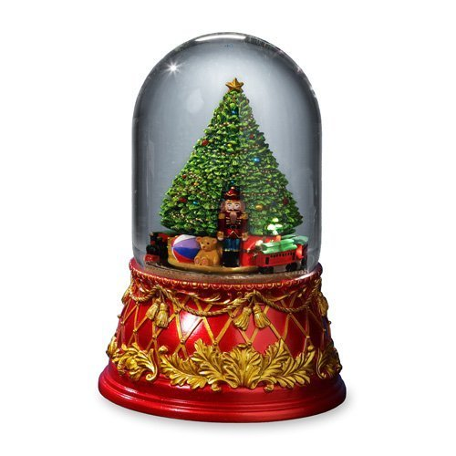 THE SAN FRANCISCO MUSIC BOX COMPANY Nutcracker Tree 120mm Domed Water Globe by The San Francisco Music Box Company