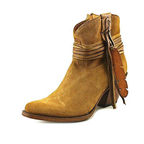 Lucchese Classics Womens Robyn-Tan Printed Sde Shorty with Fringe Ankle Bootie Light Tan 1icgNOR
