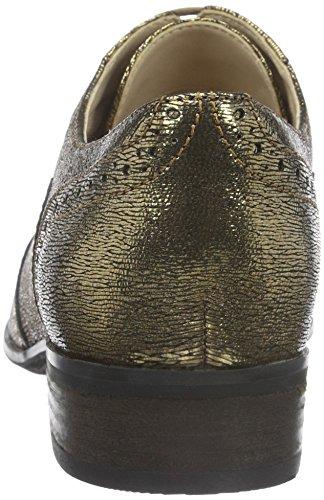 Mujer Clarks Derby Zapatos para Amarillo Metallic Gold de Cordones Oak Leather Hamble 0wwr16T
