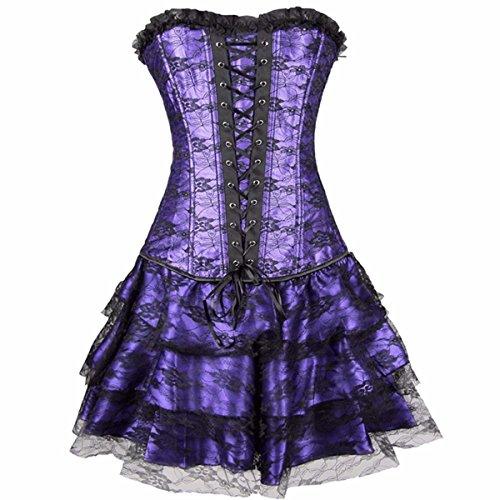 Yall agrupado según establece la quema de grasa de cintura delgada Falda ajustada Purple