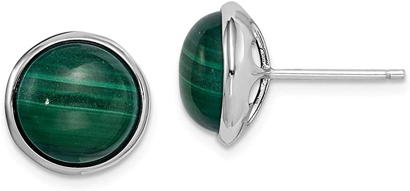 Green Malachite Sterling Silver Overlay 8 Grams Earring 1 Long Gift Jewelry
