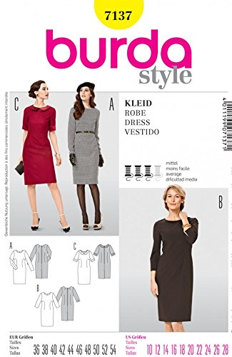 Burda 7137 Damen Schnittmuster Kleider, Größen: 36 - 54: Amazon.de ...