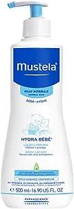 Hidratante Infantil Hydra Rosto e Corpo, Mustela Bebê, Azul, Grande/500 ml