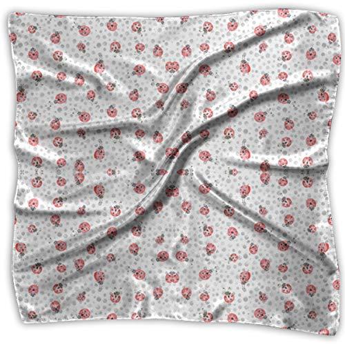 Watercolor Lady Bird Ladybug Women's Elegant Square Handkerchief Polyester Neck Head Scarf