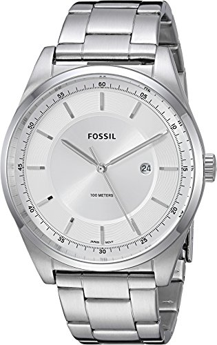 Fossil Men's 'Mathis' Quartz Stainless Steel Casual Watch, Color:Silver-Toned (Model: FS5424)