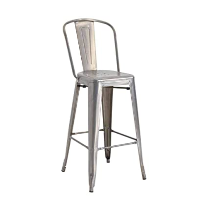 Amazon.com: Bar Stool Industrial Vintage Style Kitchen Pub Backrest ...