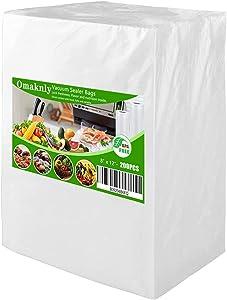 Miuco 200 Quart Size 8 x 12 Inch Vacuum Sealer Freezer Storage Machine Bags for Food Saver,Vac Seal a Meal Bags with BPA Free Sous Vide Vaccume Seal Safe PreCut Bag (4mil Pint8