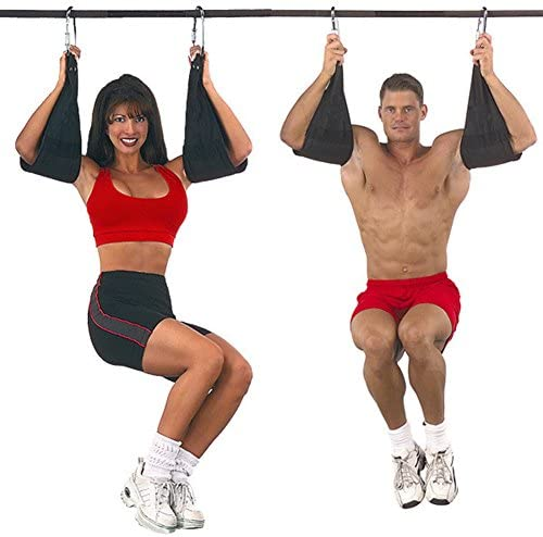 wonderfulwu Correas acolchadas para colgar AB, 1 par de correas de suspensión AB para colgar cinturones, musculares, abdominales, entrenamientos, ...