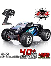 MaxTronic 45km/h High Speed RC Electric Cars Off-Road Racing Vehicle Crawler Truck 2.4Ghz 4WD 1:20 Radio Remote Control Truck for All Terrain Best Gift for Kids and Adults (Blue)