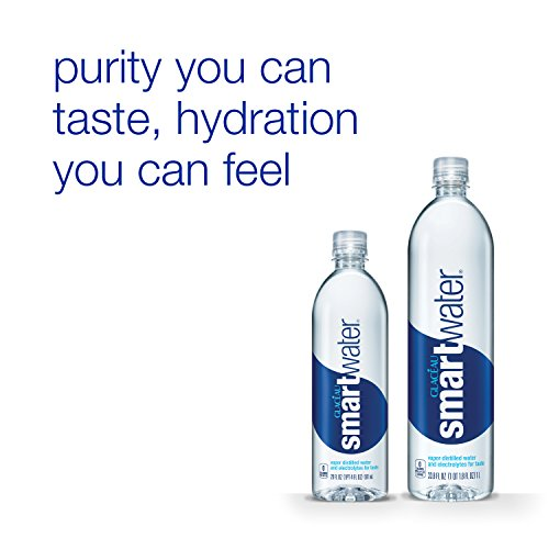 smartwater vapor distilled premium water bottles, 20 fl oz, 24 Pack by smartwater (Image #2)