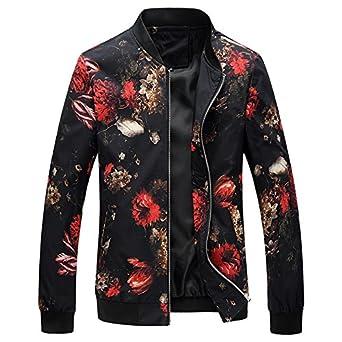 57dbeaa7a World2home 2018 Spring Autumn Bomber Jacket Men Floral Printed ...