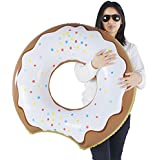 Donut Float, Inflatable Donut Pool Float Chocolate, Pool Beach Toy Kids, Donut Ring 33 Inches