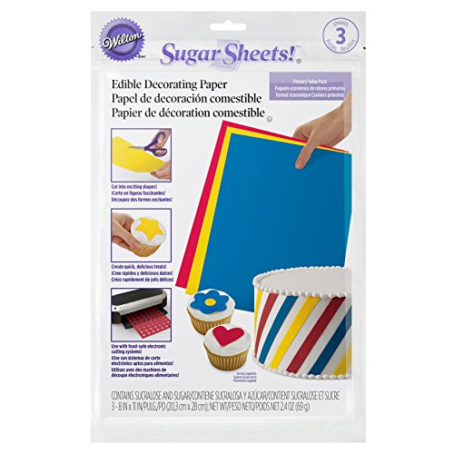 Wilton Sugar Sheets Edible Decorating Paper, Decorate Cakes and Cupcakes, Multipack of 3]()