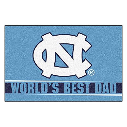 """Fanmats 18207:UNC-Chapel Hill Worlds Best Dad Starter Rug 19""""x30"""""""