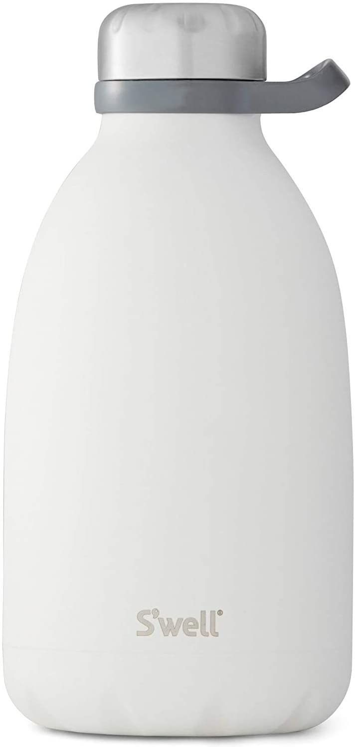 S'well Stainless Steel Roamer Bottle - 64 Fl Oz - Moonstone - Triple-Layered Vacuum-Insulated Containers Keeps Drinks Cold for 81 Hours and Hot for 29 - with No Condensation - BPA Free Water Bottle