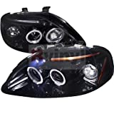 Spec-D Tuning 2LHP-CV99G-TM Honda Civic Dual Halo Led Glossy Black Projector Headlights