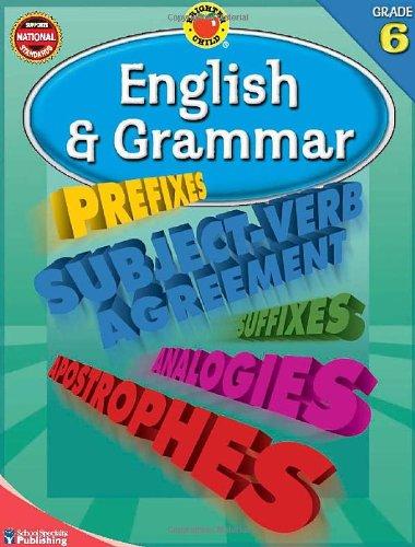 Amazon.com: Brighter Child® English and Grammar, Grade 6 (Brighter ...