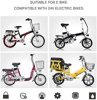 Vinteky 24V 10.4AH/15AH/20AH Batería de E-Bike, Batería de Iones de Litio para Bicicleta Eléctrica con Cargador de Bloqueo Antirrobo(10.4AH): Amazon.es: Deportes y aire libre