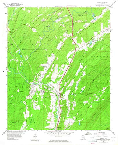 YellowMaps Helena AL topo map, 1:24000 Scale, 7.5 X 7.5 Minute, Historical, 1959, Updated 1964, 26.9 x 22 in - Paper ()