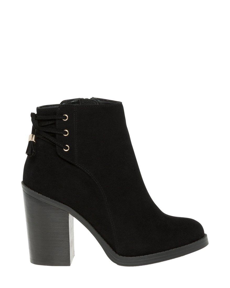 LE CHÂTEAU Women's Almond Toe Boot,39,Black