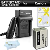 Battery And Charger Kit For Canon PowerShot SX40 HS, SX40HS, G1 X, G1X, SX50 HS, SX50HS, Powershot G15, Canon PowerShot G16, SX60 HS, SX60HS Digital Camera Includes Extended Replacement (1200Mah) NB-10L Battery + AC/DC Travel Charger + Screen Protectors +