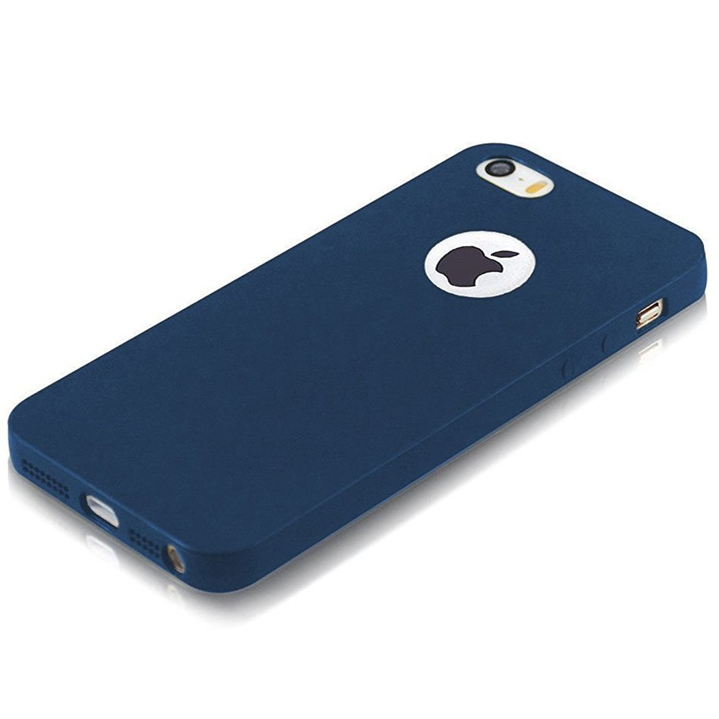 ELV IN-iP5S-mattetpu-blue Soft Back Case Cover for iPhone 5S (Blue)