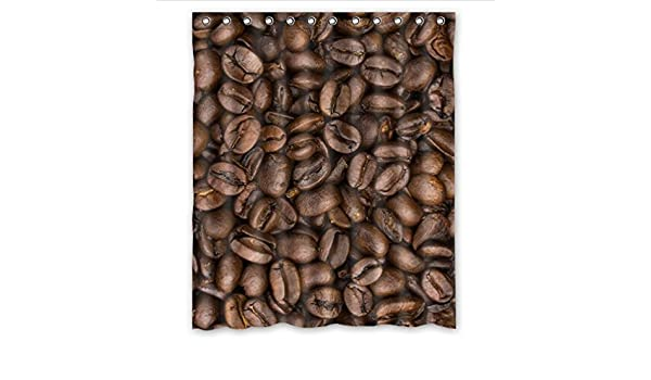 Cálido y Dulce Café Patrón, gracioso café Art tela de poliéster Custom decoración para el hogar cortina de ducha de 60