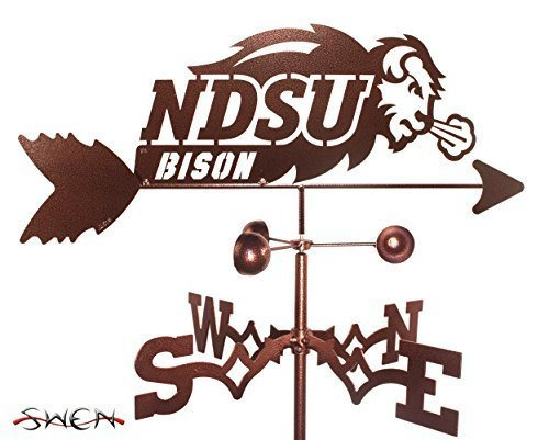 NORTH DAKOTA STATE UNIVERSITY NDSU BISON FLAT POST Mount Weathervane by SWEN Products by SWEN Products