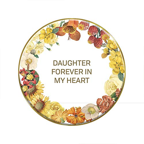 US Gifts Daughter - 4'' Round Tabletop Plaque (Pack of 2)